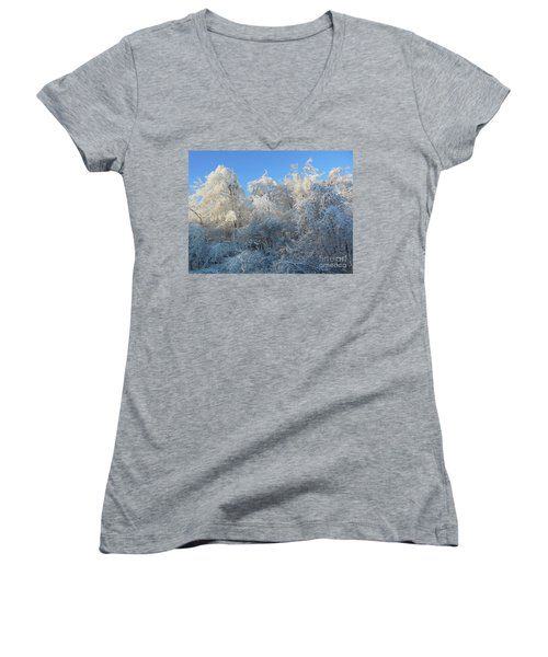 Frosty Trees Women's V-Neck
