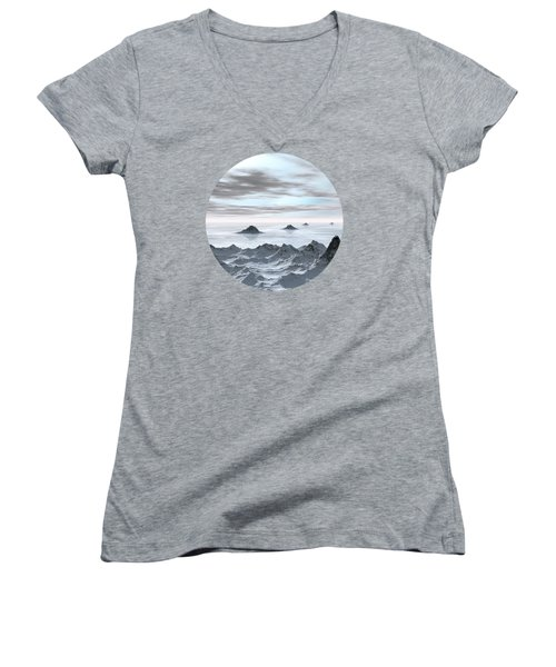 Frozen Arctic Sea Women's V-Neck (Athletic Fit)