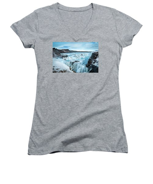 Frozen Gullfoss Women's V-Neck