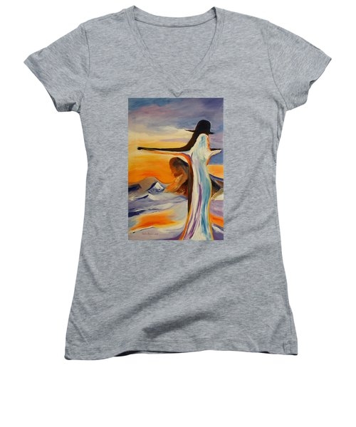 Frozen In Time Women's V-Neck (Athletic Fit)