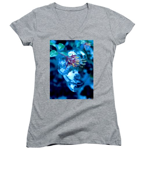 Women's V-Neck T-Shirt (Junior Cut) featuring the photograph Frozen In Time by Irma BACKELANT GALLERIES