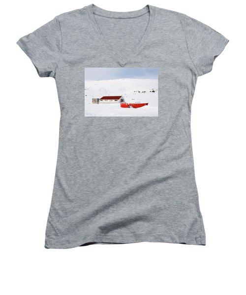 Frozen Life Women's V-Neck T-Shirt (Junior Cut) by Nick Mares