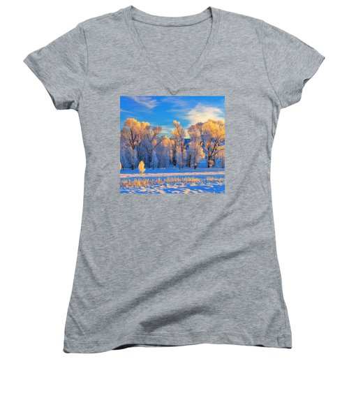Frozen Sunrise Women's V-Neck