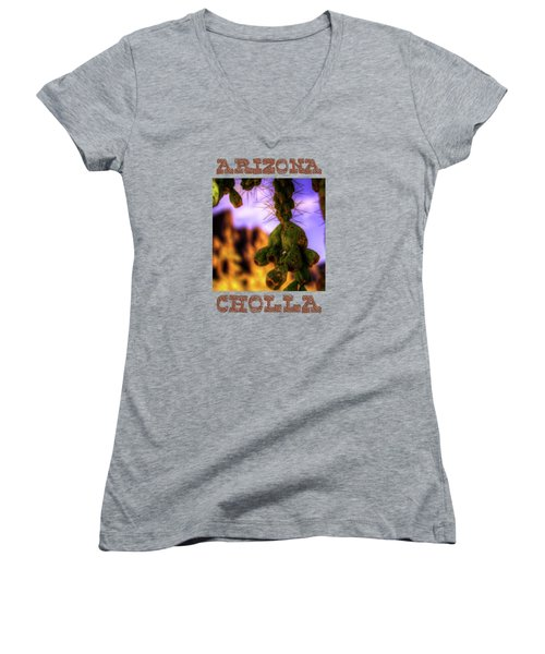 Fruit Of The Teddy Bear Cholla Women's V-Neck T-Shirt