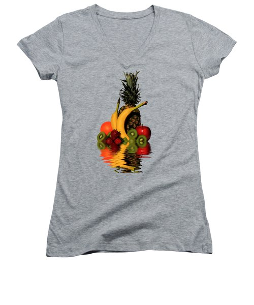 Fruity Reflections - Medium Women's V-Neck