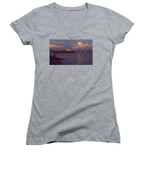 Fuel Dock, Port Townsend Women's V-Neck T-Shirt