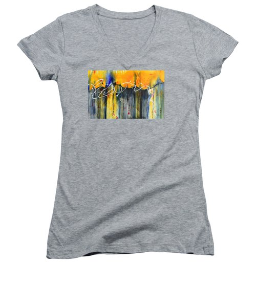 Fueled By The Wind Women's V-Neck T-Shirt (Junior Cut) by Nancy Jolley
