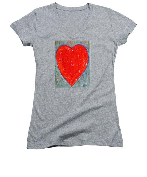 Full Heart Women's V-Neck T-Shirt