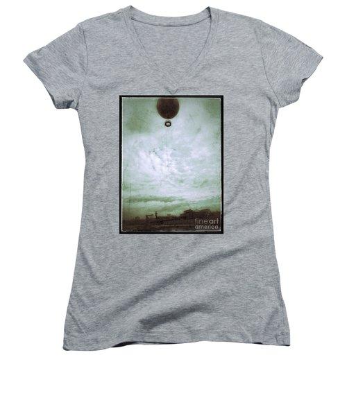 Full Of Hot Air Women's V-Neck T-Shirt (Junior Cut) by Jason Nicholas