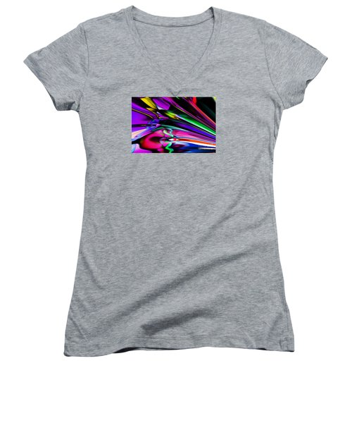 Fun With Colour Women's V-Neck T-Shirt (Junior Cut) by Elaine Hunter