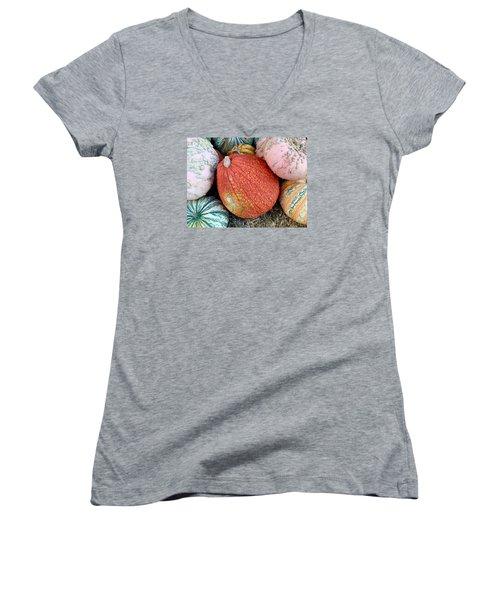 Funky Pumpkins Women's V-Neck T-Shirt