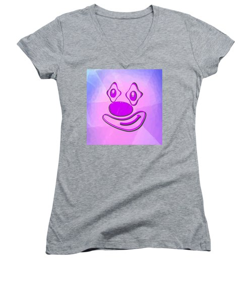 Funny Clown In The Pink Women's V-Neck (Athletic Fit)