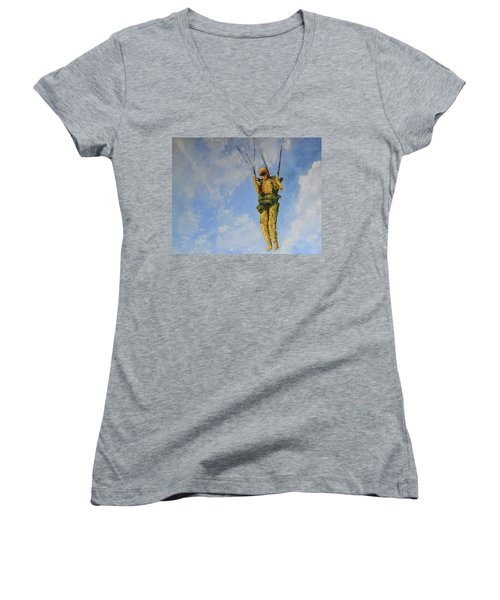 Fury From The Sky  Women's V-Neck (Athletic Fit)