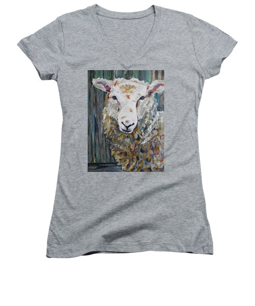 Fuzzy Women's V-Neck T-Shirt