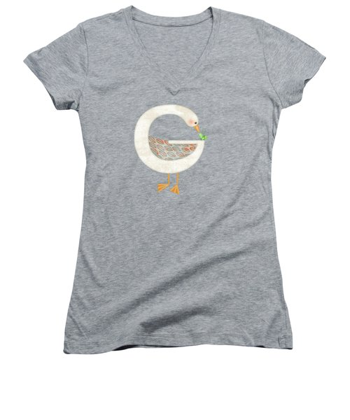 G Is For Goose And Grasshopper Women's V-Neck (Athletic Fit)