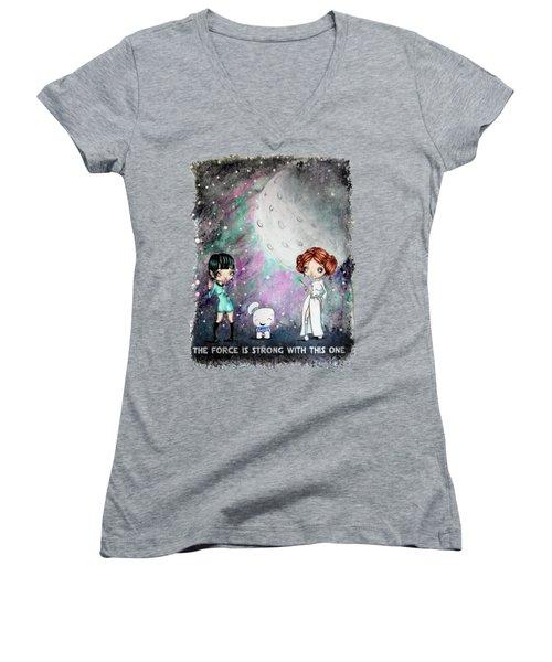 Galaxy Cosplay Women's V-Neck T-Shirt (Junior Cut) by Lizzy Love