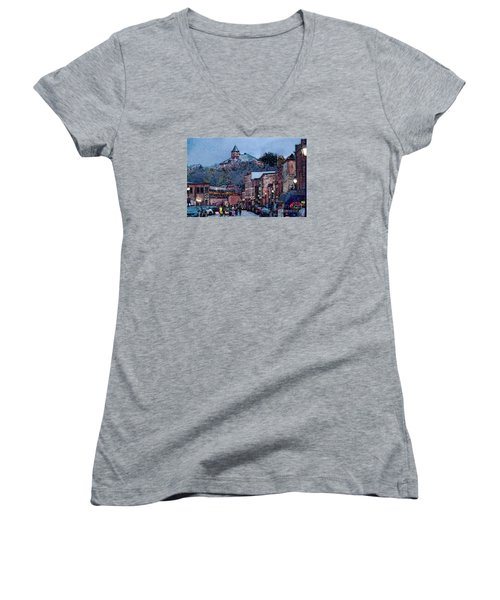 Galena Illinois Women's V-Neck T-Shirt