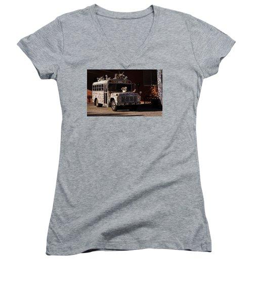 Gallery A Go Go Women's V-Neck T-Shirt (Junior Cut) by Joseph Skompski