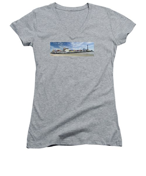Galveston Pleasure Pier Women's V-Neck (Athletic Fit)