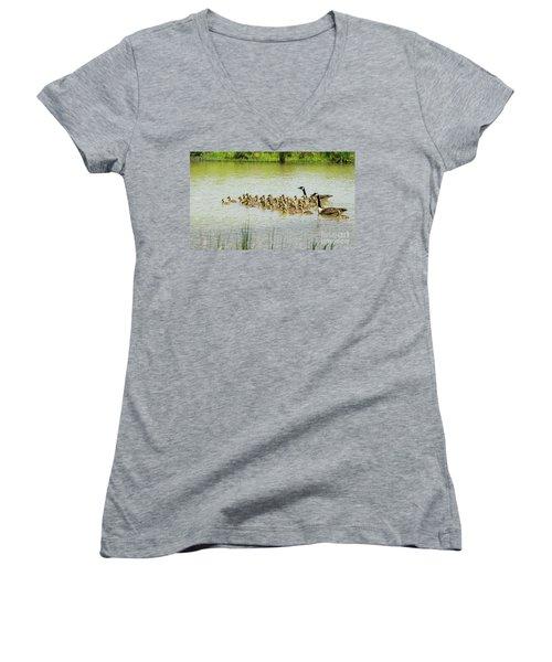 Gang Brood Women's V-Neck T-Shirt (Junior Cut) by Paul Mashburn
