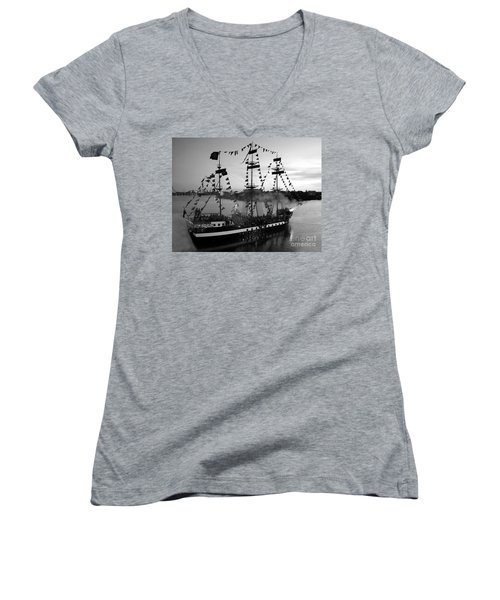 Gang Of Pirates Women's V-Neck (Athletic Fit)