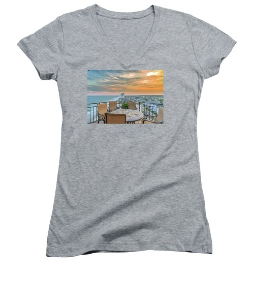 Garden City Beach View Women's V-Neck