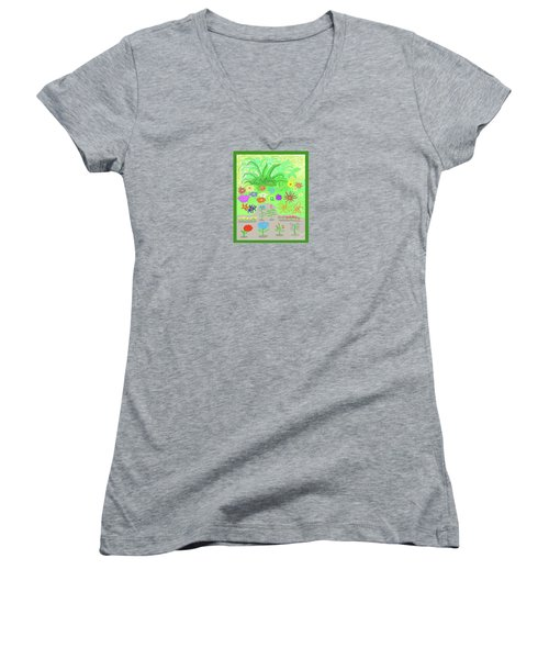 Garden Of Memories Women's V-Neck T-Shirt