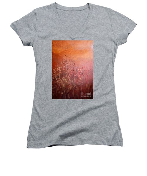 Garden Of The Sacred Fire Artbox Project 1 Basel Women's V-Neck T-Shirt
