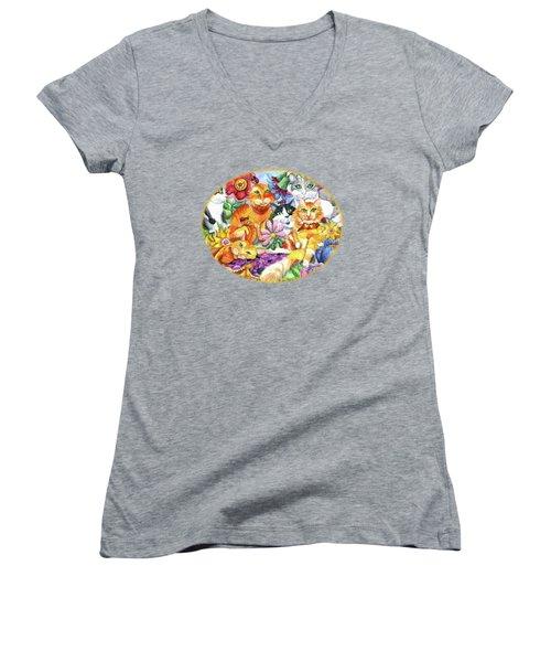 Garden Party Women's V-Neck T-Shirt