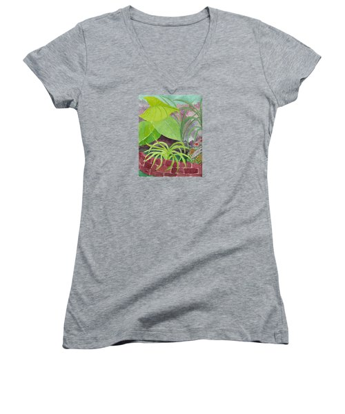Garden Scene 9-21-10 Women's V-Neck T-Shirt