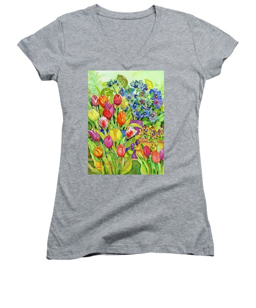 Garden Visitors Women's V-Neck (Athletic Fit)