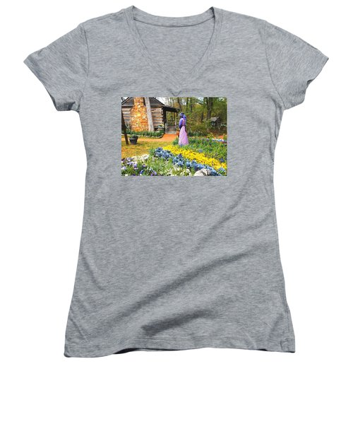 Garden Walk Women's V-Neck T-Shirt