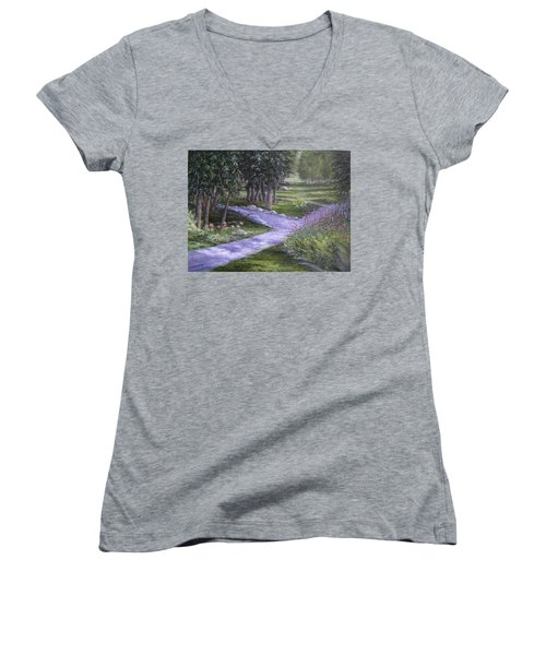 Garden Walk Women's V-Neck (Athletic Fit)