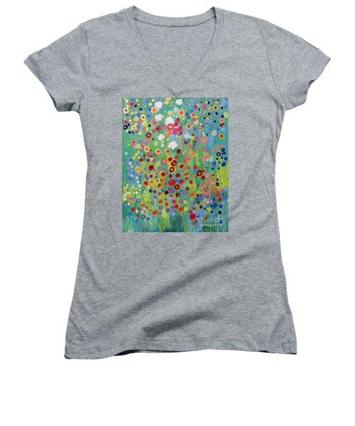 Garden's Dance Women's V-Neck T-Shirt