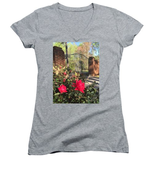 Gates Of Heaven Women's V-Neck