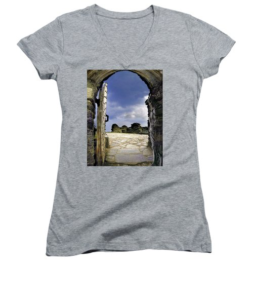 Gateway To The Castle  Women's V-Neck (Athletic Fit)