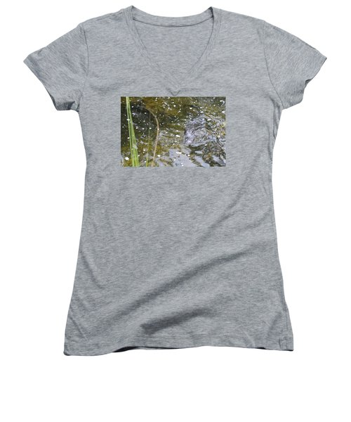 Gator Coming Women's V-Neck (Athletic Fit)