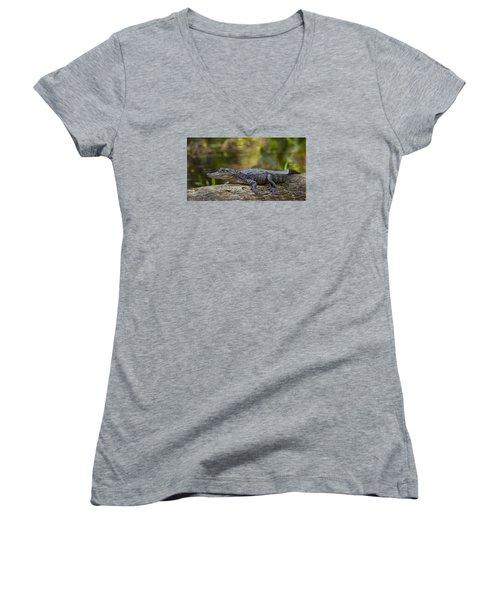 Gator Time Women's V-Neck T-Shirt (Junior Cut)