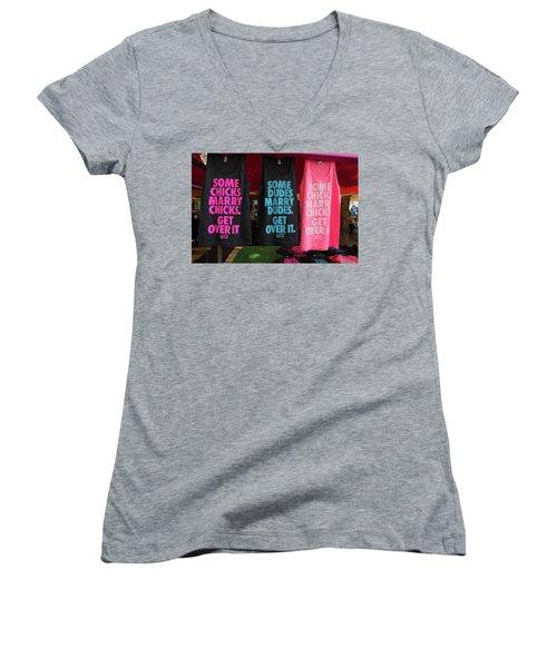 Gay Pride Amsterdam Women's V-Neck T-Shirt