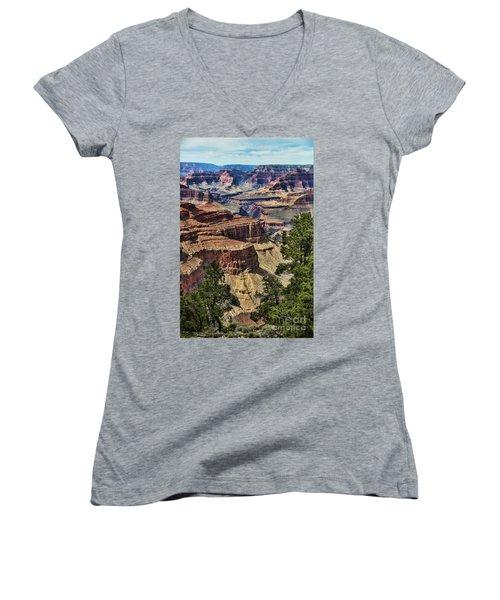 Gc 32 Women's V-Neck T-Shirt (Junior Cut) by Chuck Kuhn