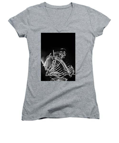 Gene Krupa Women's V-Neck T-Shirt (Junior Cut)
