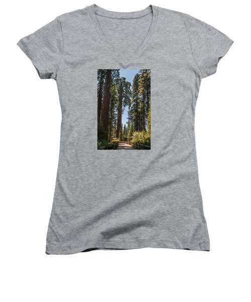 General Grant Tree Kings Canyon National Park Women's V-Neck