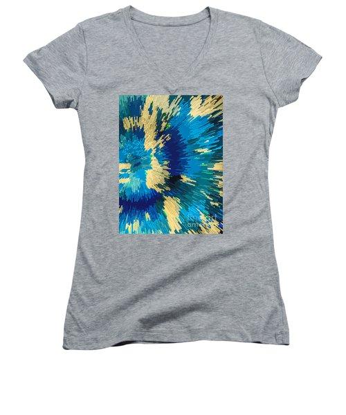 Genetically  Modified Dahlia Women's V-Neck T-Shirt