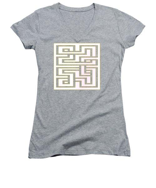 Geo 7 - Transparent Women's V-Neck T-Shirt (Junior Cut) by Chuck Staley