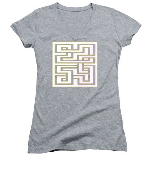 Geo 7 - Transparent Women's V-Neck T-Shirt