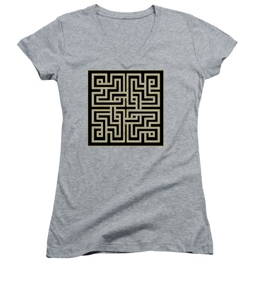 Geo Pattern 5 - Transparent Women's V-Neck T-Shirt