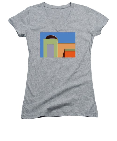 Geometry 101 Women's V-Neck T-Shirt (Junior Cut) by Nikolyn McDonald