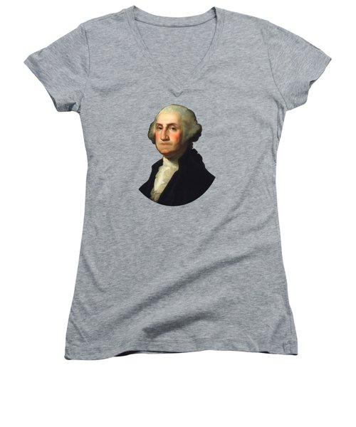 George Washington - Rembrandt Peale Women's V-Neck (Athletic Fit)