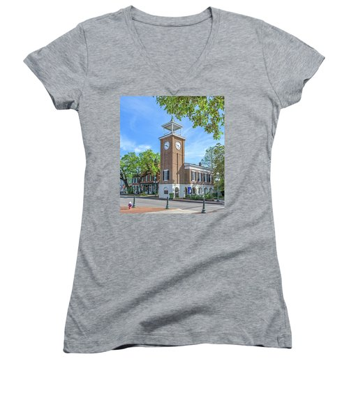 Georgetown Clock Tower Women's V-Neck