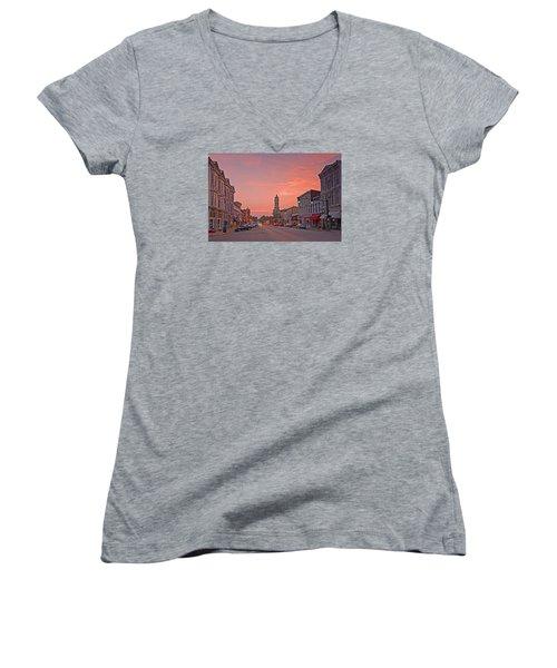 Georgetown Kentucky Women's V-Neck T-Shirt (Junior Cut) by Ulrich Burkhalter